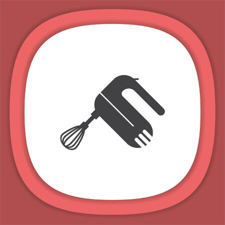 Kitchen mixer vector icon. Beater sign
