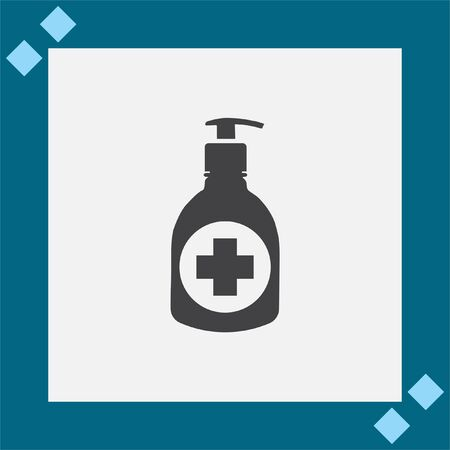 sanitizer: Disinfection Bottle vector icon. Sanitizer sign