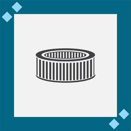 Car Air Filter Vector Icon Automobile Repair Service Symbol