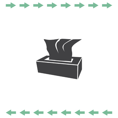 wiping: Tissue napkin box vector icon. Hygiene symbol