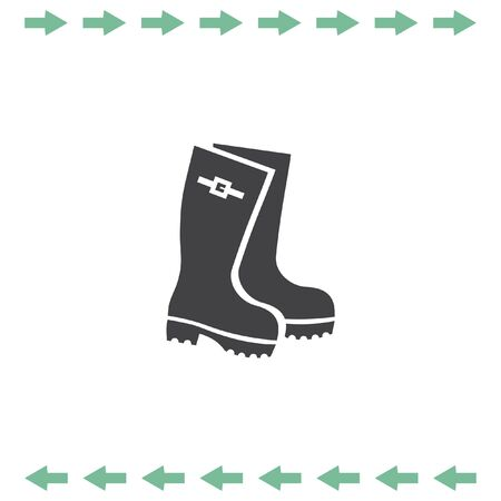 Rain boots vector icon. Rubber footwear symbol