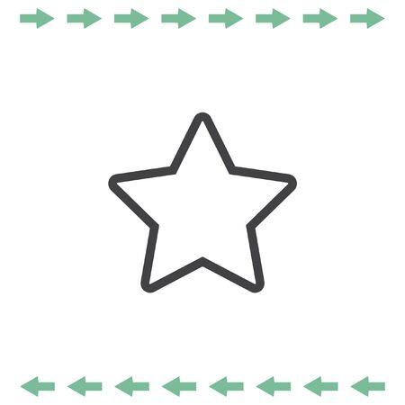 Star line vector icon. Add to favorites symbol. Bookmark sign Illustration