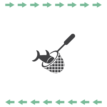 Fishing Net vector icon. Fisherman equipment sign.