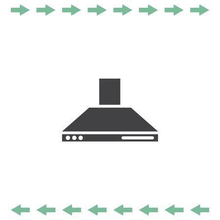Kitchen hood vector icon