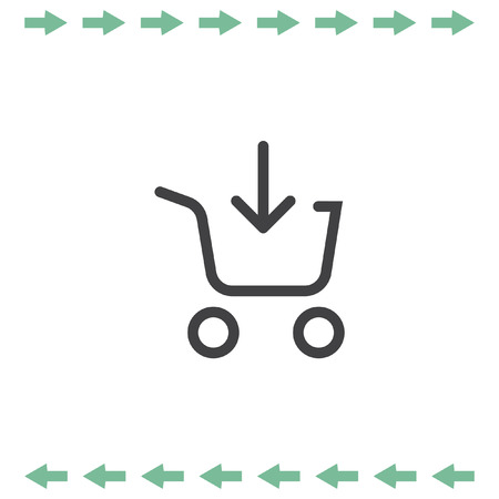 Add to shopping chart vector icon. On line shop sign