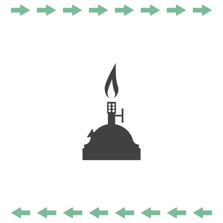 Laboratory burner vector icon. Lab equipment sign. Chemistry tool symbol Illustration