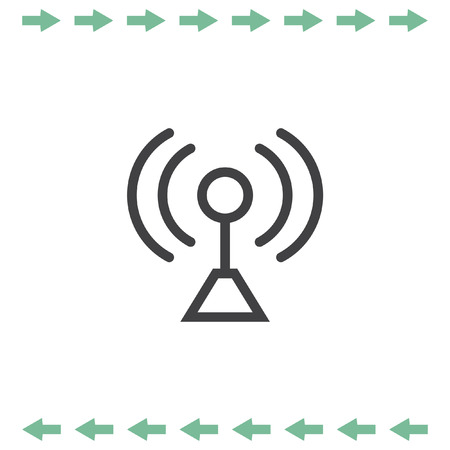 Signal strength line vector icon. Wi Fi and Wireless connection symbol.