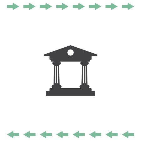 roman column: Institution vector icon. Government building sign. University symbol Illustration