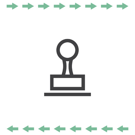 cachet: Stamp sign line vector icon. Cachet symbol.