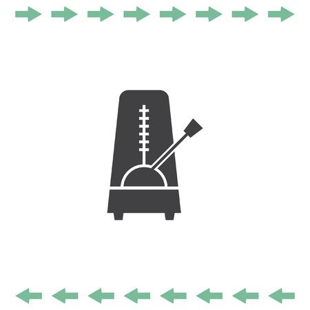 pendulum: Metronome vector icon. Tempo meter symbol