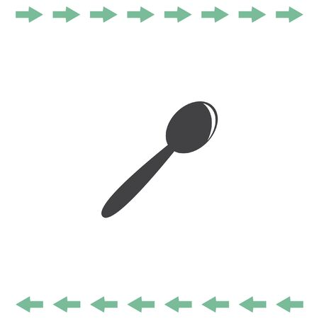 Spoon vector icon. Kitchen silverware symbol Illustration