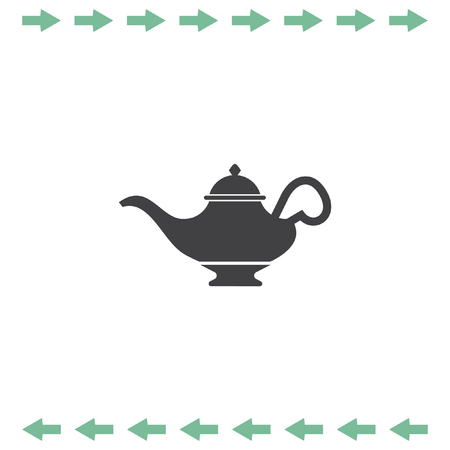 Magic lamp vector icon Illustration