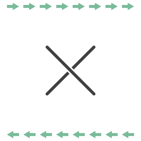 incorrect: Close sign line vector icon. Multiplication or decline symbol Illustration