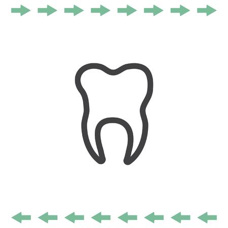 Tooth vector icon. Dentist symbol
