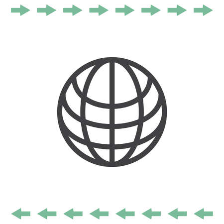 Globe vector icon. Earth symbol. Illustration