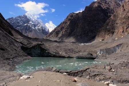 kyrgyzstan: Glaciar Inylchek - Kirguist�n Foto de archivo