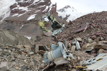 Soviet helicopter crash in Kyrgyz Khan Tengri base camp