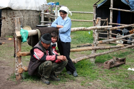 Kyrgyz yurt camp in Tien Shan mountains Editorial
