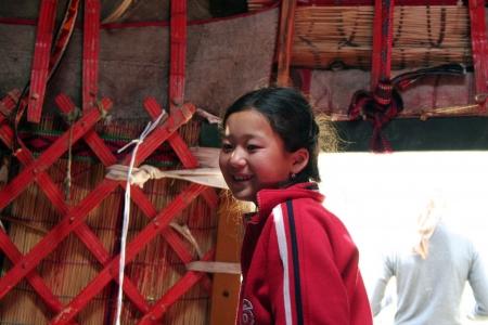 issyk kul: Kyrgyz yurt camp in Tien Shan mountains, inside the Yurta Editorial