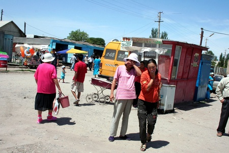 kyrgyzstan: Kirguist�n - bazar en Pokrovka