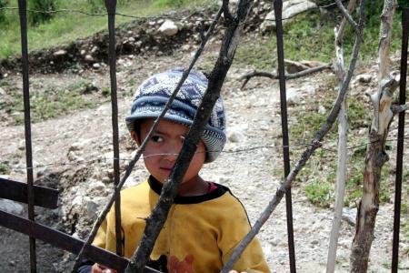 uzbek: Uzbek Boy in Arslanbob, Kyrgyzstan