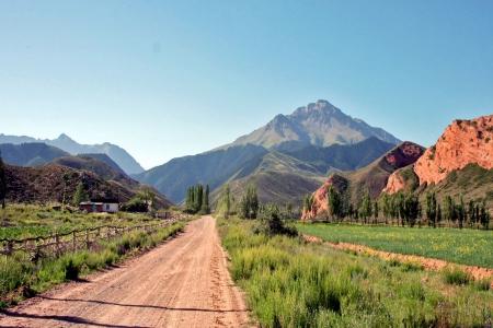 Dzhuku Valley, Tien Shan mountains, Kyrgyzstan Stock Photo