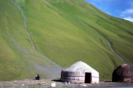 Yurt,  traditional nomadic house in central Asia