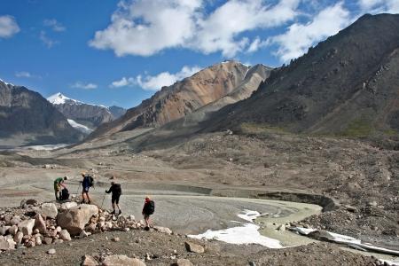 Trekking in Tien Shan mountains, Ak-Shyrak region, Kyrgyzstan photo
