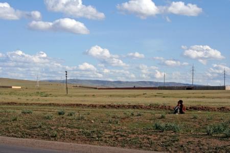nomadism: Mongolian landscape Editorial