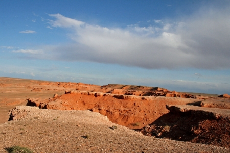 Bayan Zagh, The Flaming Cliffs of Mongolia s Gobi Desert  photo