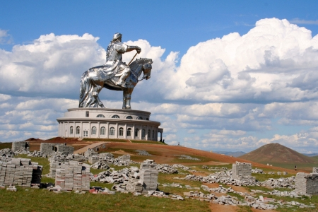 independent mongolia: Statue of Genghis Khan, Ulan Bator , Mongolia