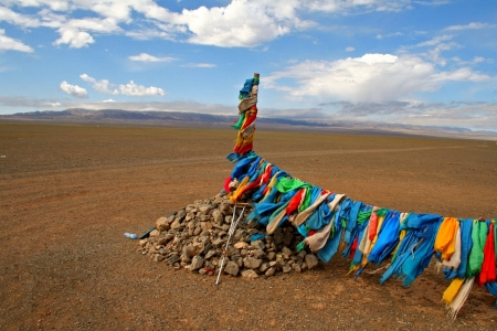 independent mongolia: Ovoo in Mongolia