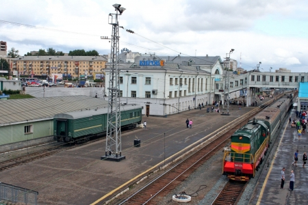 novosibirsk: Trans-Siberian Railway, Kirov train station Editorial