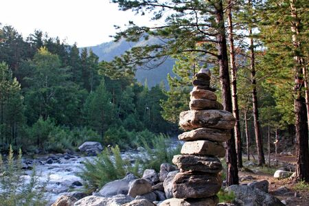 Shaman site, Buryatia, Siberia, Russia,