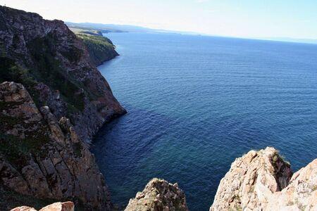 Olkhon eiland, meer Baikal, Siberië, Rusland Stockfoto