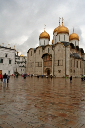 Cathedral of the Assumption in Kremlin  Moscow  Russia   photo