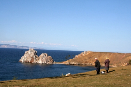 Cape Burkhan in Olkhon island, lake Baikal, Siberia, Russia  Stock Photo - 18330935