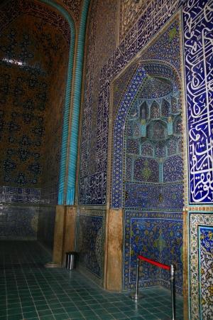 imam: interior of Imam Mosque in Isfahan, Iran  Stock Photo