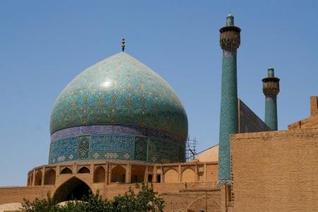 esfahan: Jameh Mosque in Esfahan  Isfahan  - Iran  Stock Photo