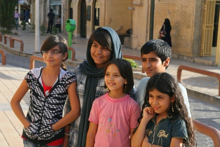 Enfants iraniens, Isfahan, Iran Banque d'images - 18471181