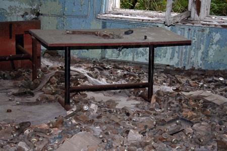 Gasmasks in dead city, Chernobyl