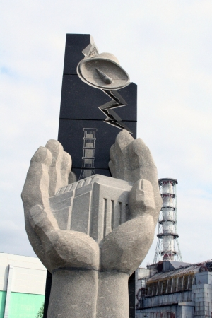 Chernobyl  Monument in memory of disaster   Stock Photo - 18479185