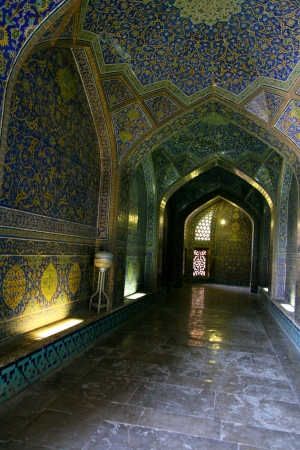 interior of Imam Mosque in Isfahan, Iran  Editorial