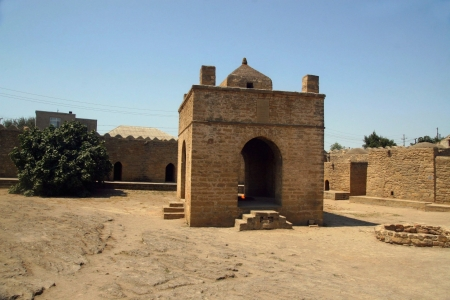 azerbaijan: A Zoroastrian fire temple in Azerbaijan  Stock Photo