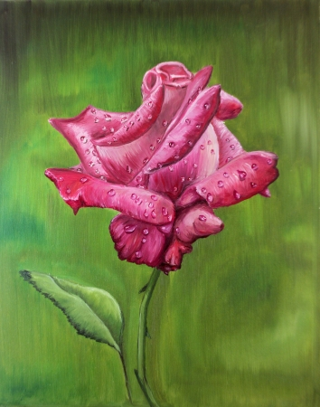 acrylic painting: oil painting - rose