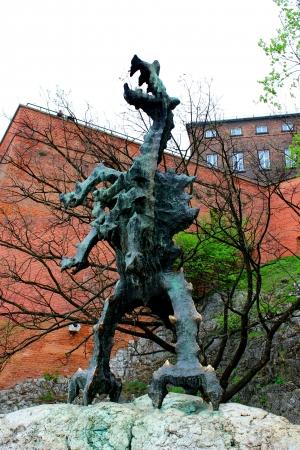wawel: Dragon in Krakow, Poland