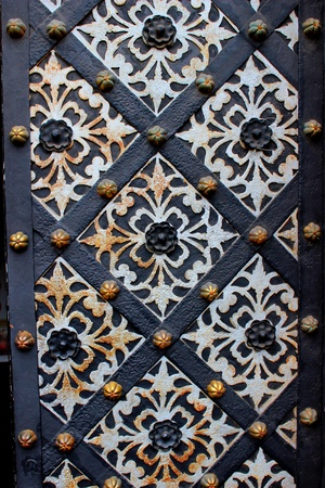 Old door with ornament   Stock Photo - 19447416