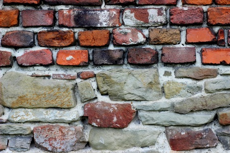Old wall with bricks and stones Stock Photo - 19837908