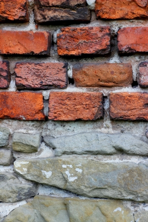 Old wall with bricks and stones  Stock Photo - 19837850