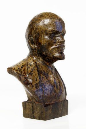 lenin: Sculpture of wood carved  Lenin